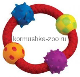 """Petstages игрушка для собак """"Канат-кольцо с мячиками"""""""