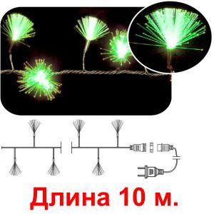 Кисточки зеленые, 100 светодиодов