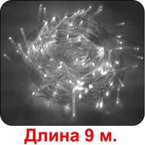 """""""Огонёк"""" белая, 100 светодиодов, 9м"""