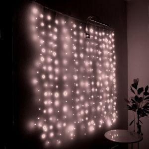 "Занавес ""Светлячок"" белый, 256 минисветодиодов, 1.6х1.6м"