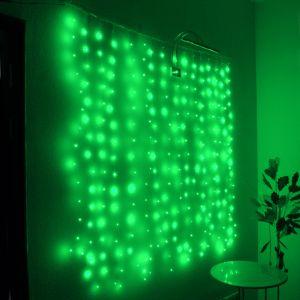 "Занавес ""Светлячок"" зеленый, 1.6х1.6м"