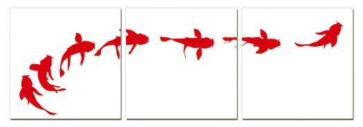 """Модульная картина """"Gold fish"""" 50x50"""