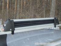 Багажник для лыж и сноубордов - крепление Amos для 5 пар лыж / 4 сноубордов (Серебристый цвет)