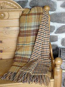 плед шотландский двусторонний, 100 % стопроцентная шотландская овечья шерсть, расцветка  Файндхорн Findhorn, плотность 10
