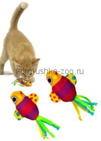 """Petstages игрушка для кошек """"Рыбки с кошачьей мятой"""" 2 шт"""