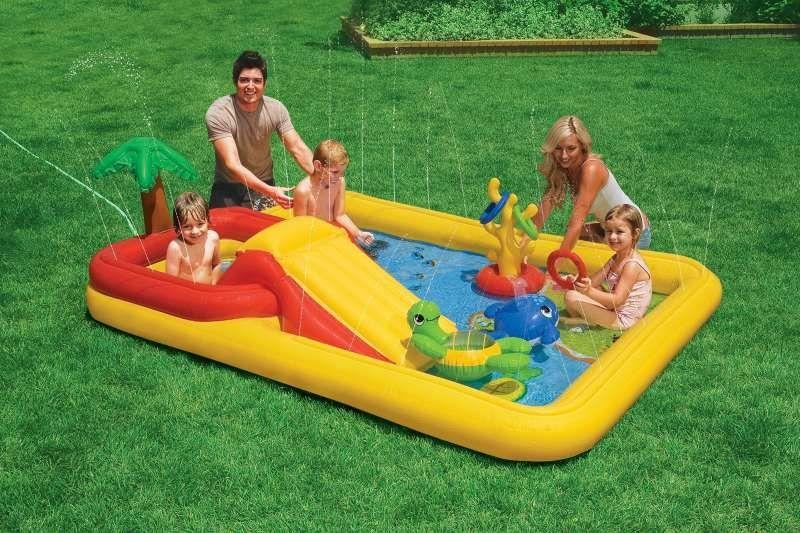 Игровой центр с бассейном надувной Intex 57454