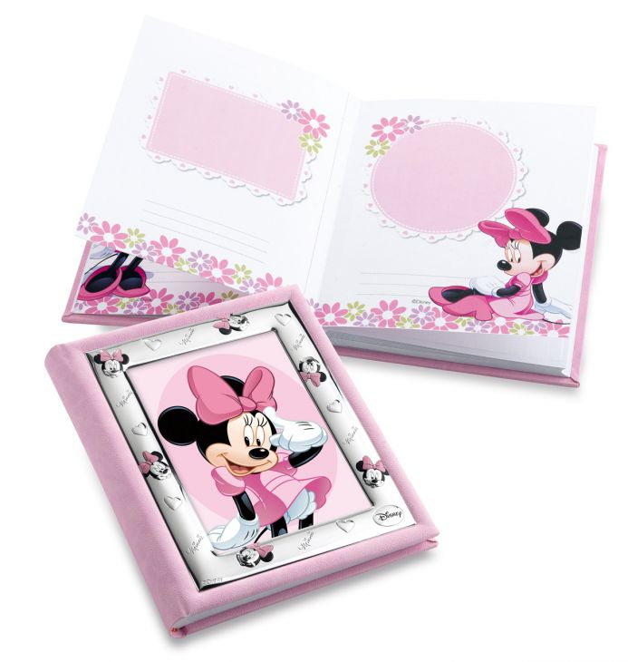 Детский фотоальбом (для девочки) с серебряной рамкой Disney, 20*25см. (Италия)