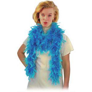 Боа из перьев, голубое