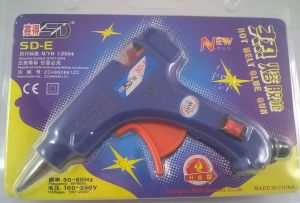 Термоклеевой пистолет с подставкой 20W, 7мм в упаковке