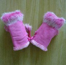 Перчатки без пальцев Митенки розовые