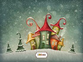 """Фон стена """"Gnome winter"""" 2x1.5"""