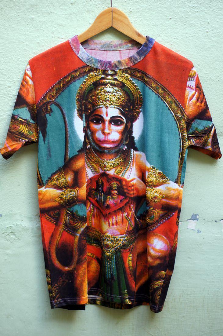 Мужская футболка с Хануманом