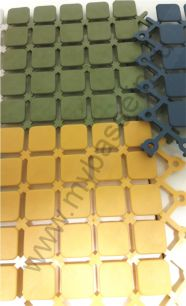 Противоскользящее модульное покрытие Panel mat 14*14 см