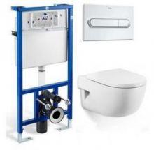 Система инсталляции Roca PRO WC 89009000 в комплекте с подвесным унитазом Roca Meridian-N 346247000 с сиденьем Soft Close