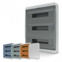 Бокс пластик. 3 ряда 54 мод. IP40 навесной  дверь непрозр.