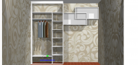 Встроенный шкаф купе - Белый