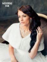 Меховая норковая накидка на свадебное платье
