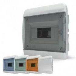 Щит встраиваемый 8 мод. IP40, непрозрачная белая дверца компл 1