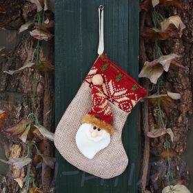 Новогодний носок маленький. Дед Мороз