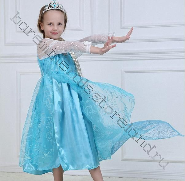 """Платье Эльза Холодное сердце рост 120, 130 см """"Размер в размер"""""""