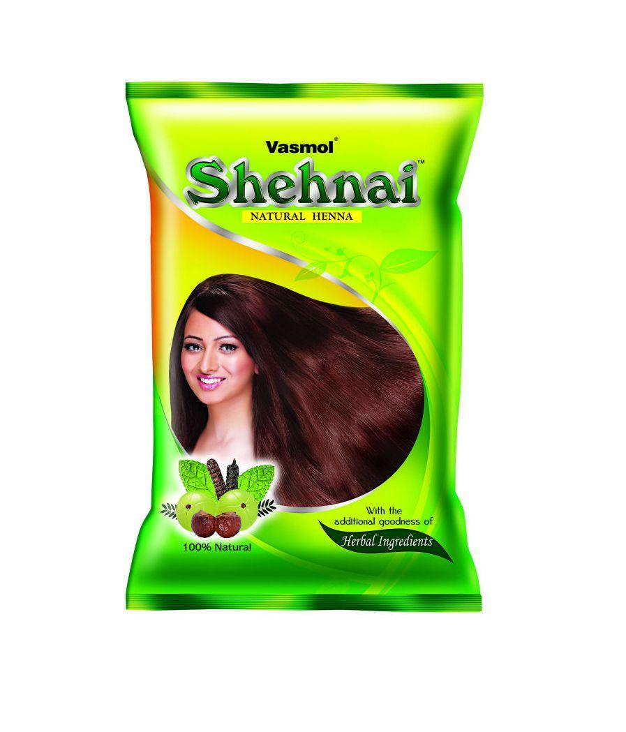 Индийская хна для волос Vasmol Shehnai Natural Henna, 150 г (СПб)