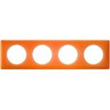 Legrand Celiane2 Рамка на 4 поста, оранжевый муар