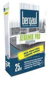 Клей усиленный для керамической плитки Keramik Pro 25кг Bergauf 1уп=56шт