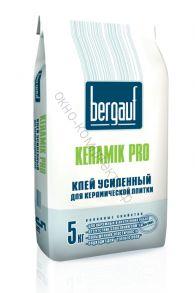 Клей усиленный для керамической плитки Keramik Pro 5кг Bergauf 1уп=108шт