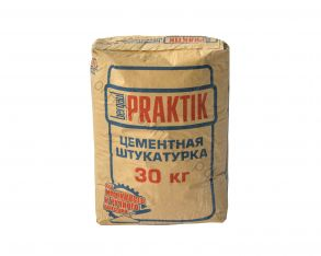 Штукатурка цементная для наружных работ 30кг Bergauf Praktik 1уп=48шт