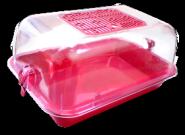 ZOOEXPRESS Клетка-террариум прозрачный малый