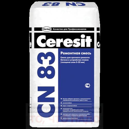 CERESIT CN 83 Ремонтная смесь для бетона 5-35мм 25кг