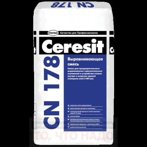 CERESIT CN 178 Выравнивающая смесь для пола 5-80мм 25кг