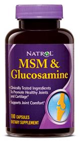 Natrol MSM & Glucosamine (180 капс.)