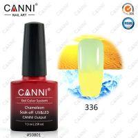 Термогель-лак Canni #336 (лимонный - пастельный салатовый) 7.3 ml