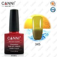 Термогель-лак Canni #345 (оливковый - темный желтый) 7.3 ml
