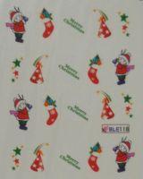 """Водная наклейка для дизайна ногтей """"Новый Год"""" BLE 118"""