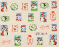 """Водная наклейка для дизайна ногтей """"Новый Год"""" BLE 2332"""