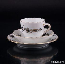 Кофейное трио Черный Дракон, Meissen, Германия, вт. пол. 20 в., артикул 02160