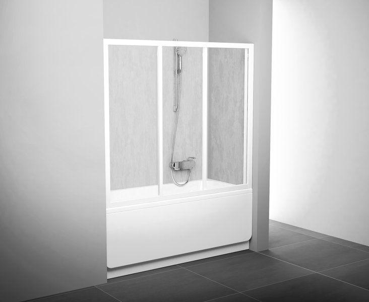 Шторка для ванны Ravak AVDP3 170 стекло матовое (профиль-белый)