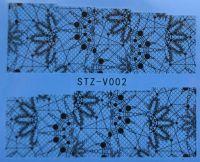 Наклейка водная для дизайна ногтей V002