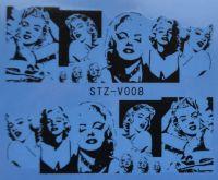 Наклейка водная для дизайна ногтей V008