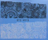 Наклейка водная для дизайна ногтей V015