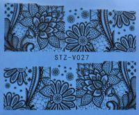 Наклейка водная для дизайна ногтей V027