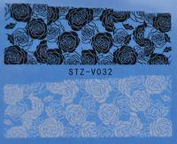 Наклейка водная для дизайна ногтей V032
