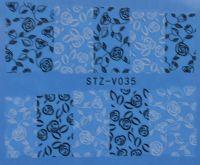 Наклейка водная для дизайна ногтей V035