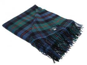 Плед, 100 % стопроцентная шотландская овечья шерсть, расцветка клана Мюррэй из Атолла