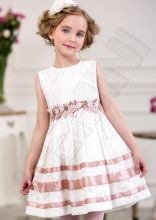 Платье Baby Steen айвори-пепел роза