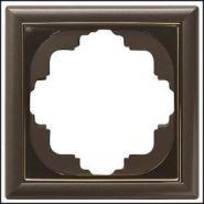 Gira S-Classic Коричневый мет/золото Рамка 5-ая