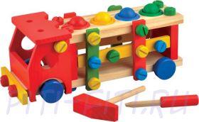 МДИ (Мир деревянной игрушки) Машина конструктор (деревянная)