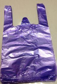 Пакет майка. Фиолетовая. (24*44) ПНД, 10мкм. В упаковке - 100шт/1000/4000/